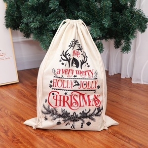 Image 5 - Large Size Christmas Bags Santa Sacks Merry Christmas Xmas Party Happy New Year Holiday DIY Decorations Favor Gifts Bags