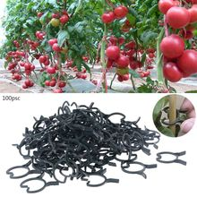100Pcs Plant Garden Clips Vegetable Plant  Vine Support Clips for Holding Plant Stems
