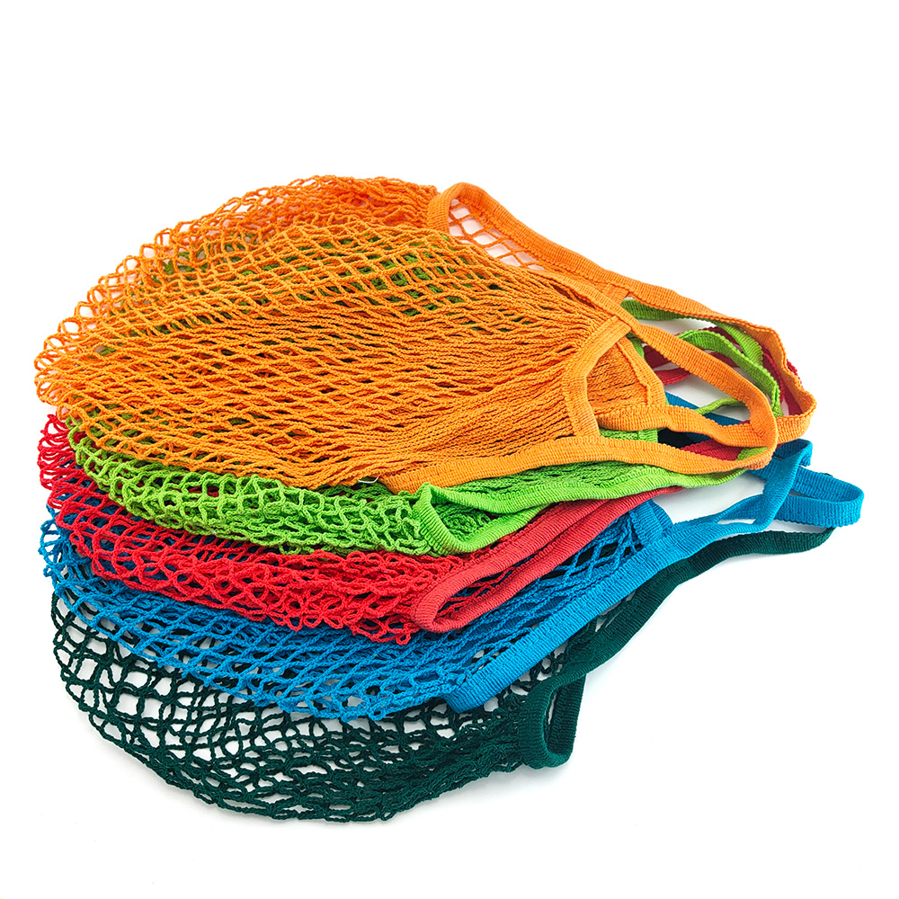 Cotton Mesh Net String Shopping Bag Reusable Foldable Fruit Storage Handbag Totes Women Shopping Mesh Net Grocery Tote Bag 2020