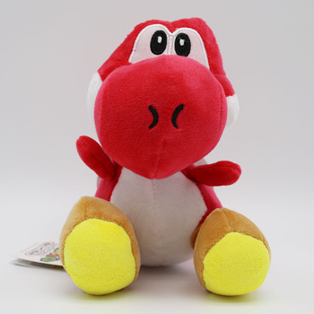 7in Yoshi Series Super Mario Bros Plush Toy Stuffed Animal Red Brothers Action figure Doll