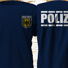 T-Shirt Police Department German Polizei Swat Double-Side Fashion Tees Munich Force Spesial