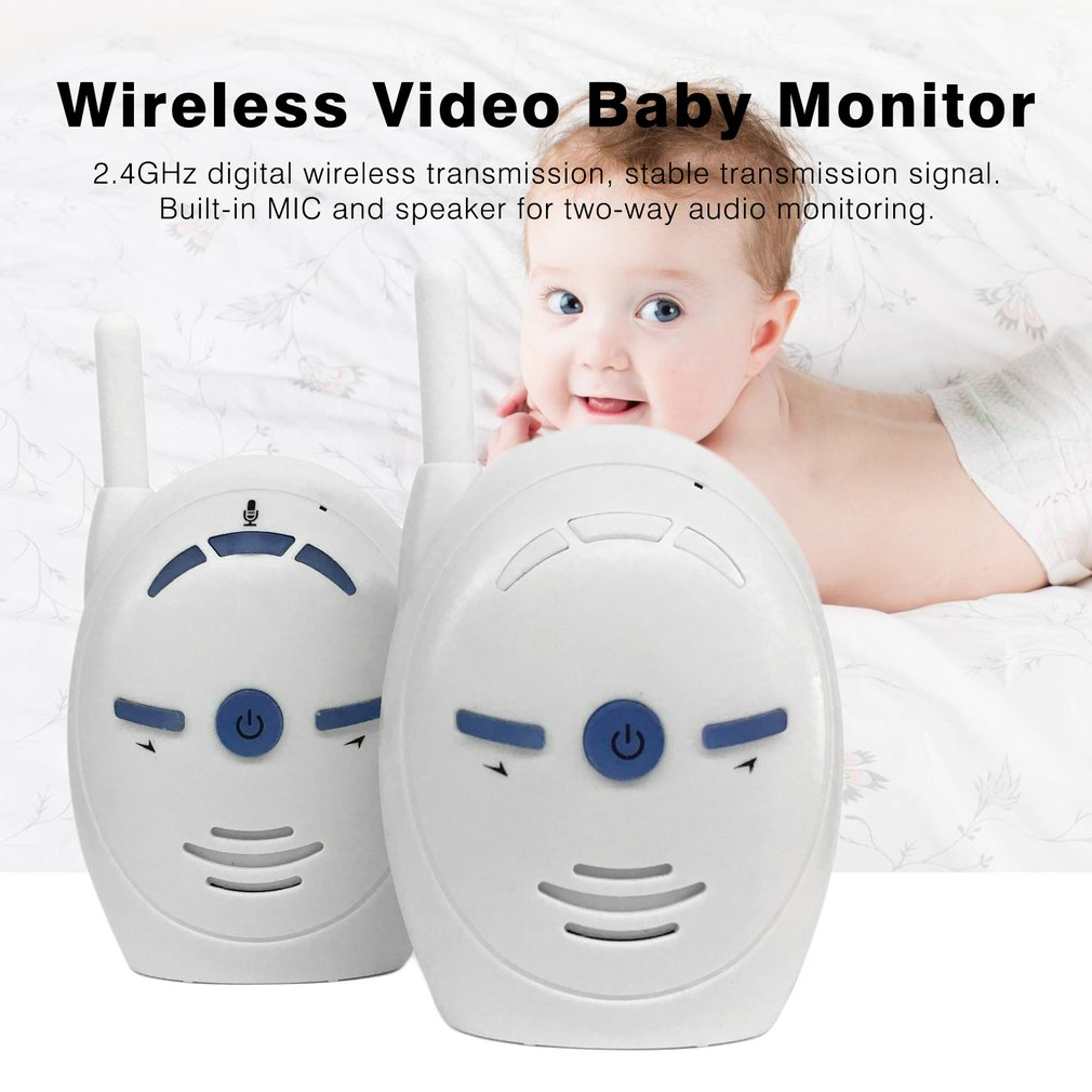 Portable 2.4GHz Wireless Digital Audio Baby Monitor Sensitive Transmission Two Way Talk Crystal Clear Cry Voice Alarm EU Plug