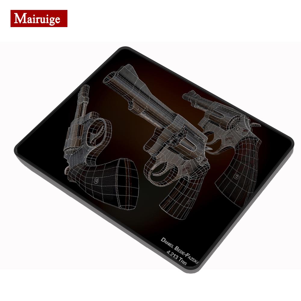 Mairuige пистолет черная ткань коврик для мыши cs go gun m14