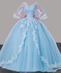 Bm quinceanera vestidos 2020 vestido de baile frisado doce 16 vestidos de baile formal vestido de festa de 15 anos tamanho estoque 4 bm306