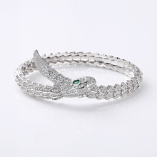 VERY GIRL Luxury Silver Snake Cubic Zircon Bangles For Women Party Anniversary Jewelry New Arrivals 2019