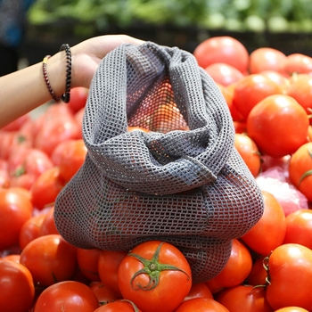 9pcs Reusable Produce Bags Cotton Mesh Produce Shopping Bag Set Organic Eco Friendly Washable Storage Bags for Fruit Vegetables 5