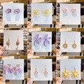 Парусный спорт дождь 925 серебряные серьги для женщин обувь для девочек в стиле «хип-хоп» Серьги в виде цветов, свадебные украшения, подарок н...