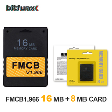 Bitfunx FMCB משלוח McBoot כרטיס זיכרון 16MB v1.966 בניו גרסה & פונקציה חדשה + 8/16/64/128MB זיכרון כרטיס חבילה