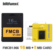 Bitfunx FMCB carte mémoire McBoot gratuite 16 mo v1.966 dans une nouvelle version et une nouvelle fonction + 8/16/64/128 mo de carte mémoire