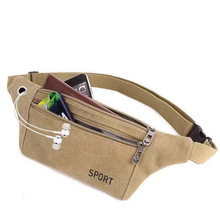 Women Men Fanny Pack Waist Belt Bag Canvas Travel Camping Hiking Pocket Belly Pouch For Phone Coins Casual Chest Shoulder Bags
