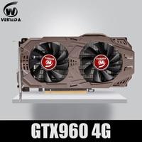 VEINEDA PC Video Card Original GTX 960 4GB 128Bit GDDR5 Graphics Cards VGA Cards  GTX960 4gb  DVI For nVIDIA Geforce Game 1