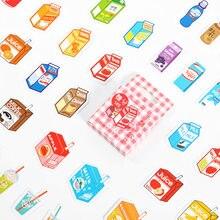 45 unids/caja Semi-azúcar bebida fría de serie de papelería pegatinas Scrapbooking agenda DIY álbum diario palo etiqueta