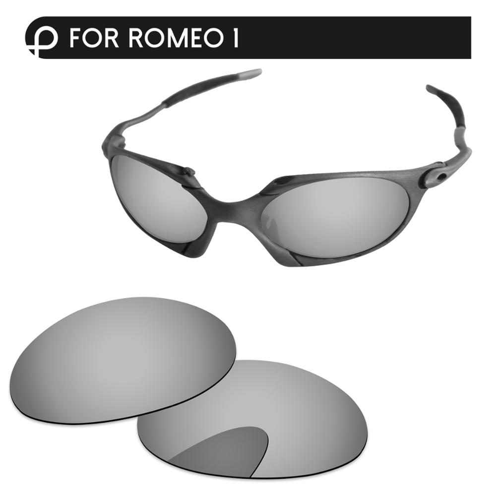 Papaviva Chrome Silver Mirror Polarized Replacement Lenses For Romeo 1 Sunglasses Frame 100% UVA & UVB Protection