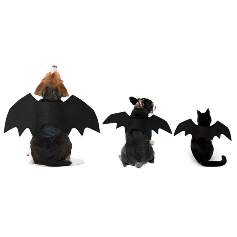 Creative Pet Cat Dog Halloween Costume Pet Clothes For Party Halloween Pet Bat Wings Cosplay Costumes Pet Supplies