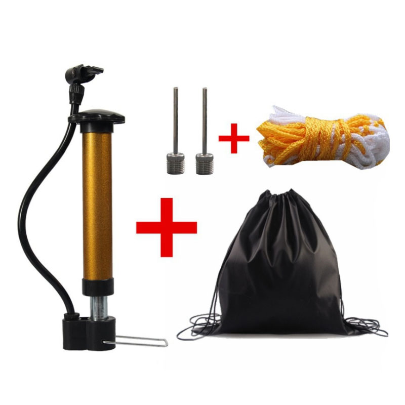 MAICCA Football Air Inflator Soccer Ball Pump With Carry Bag Mesh Basketball Handball Volleyball For Gas Steel Needle Tube
