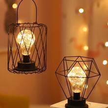 Lámparas de Mesa Retro Para dormitorio, sala de estar, lámpara led para cabecera de arte, lámpara de cama moderna, luz de noche, decoración navideña, lámpara de noche