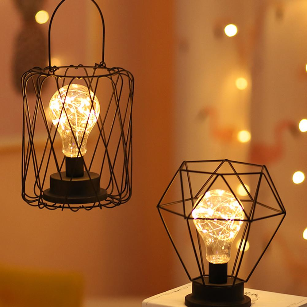 Retro masa lambaları yatak odası oturma odası için LED başucu lambası sanat Modern yatak lambası gece lambası noel dekorasyon başucu lambası