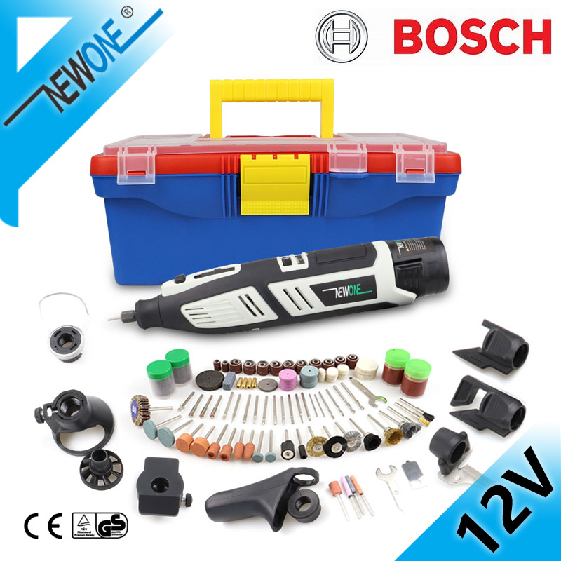 NEWONE 12V Electric Rotary Tool Kit Variable Speed 368Pcs Accessories with shaft  amp  Carrying CaseSander and Polisher-Includes