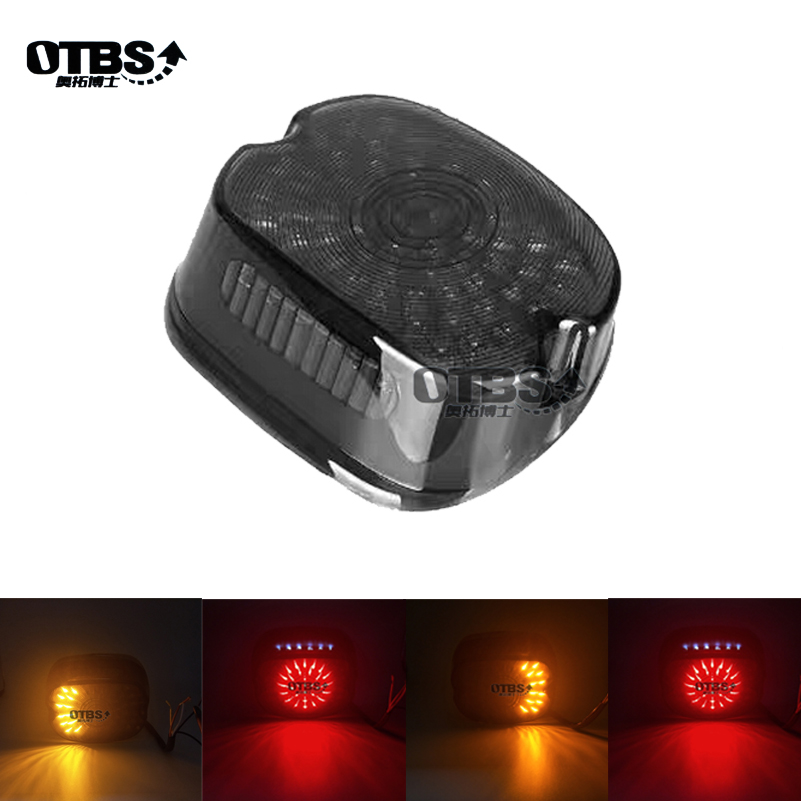 Led Motorcycle Tail Brake Signal Integrated Light For Harley Softail Sportster Road King Dyna Electra Glide Smoke