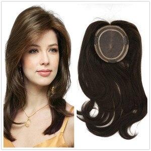 Hstonir peruca de cabelo toupee para mulheres, cabelo humano, toupee 613, fechamento, peruca kosher, peça superior remy europeia tp04