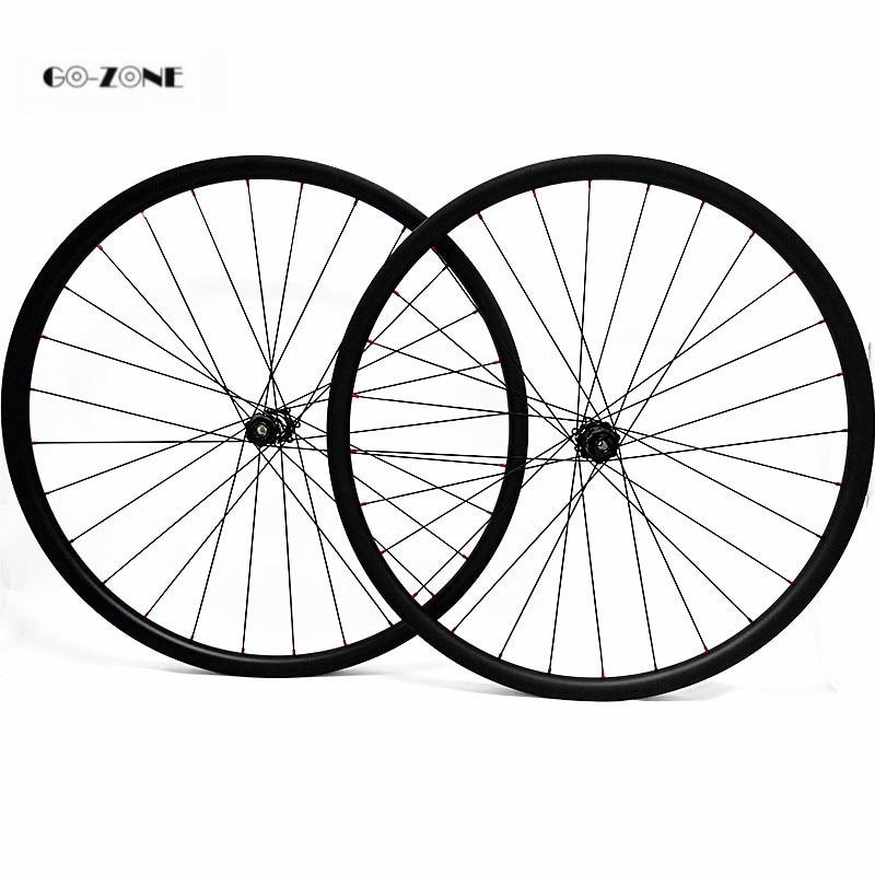 Asymmetric mtb bike 29er carbon wheels 33.5x25mm XC/AM tubeless with DT350s boost /100x15mm 142x12mm thru axle mountain wheelset