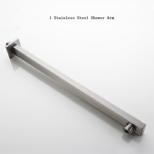 Image 3 - Brushed Nickel Stainless Steel Square Shower Arm Shower Head arm Wall Mounted Ceiling Mounted Shower Head Arm Wholesale