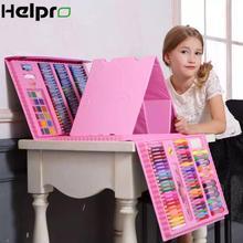Helpro 150/176 шт кисти ручки Канцелярский набор для рисования акварелью инструменты для рисования художественный маркер для детей подарок школьные принадлежности