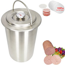 Пресс для мяса AREYOUCAN Ham Maker 304 из нержавеющей стали, сэндвич-устройство с термометром, 100 шт. карточек