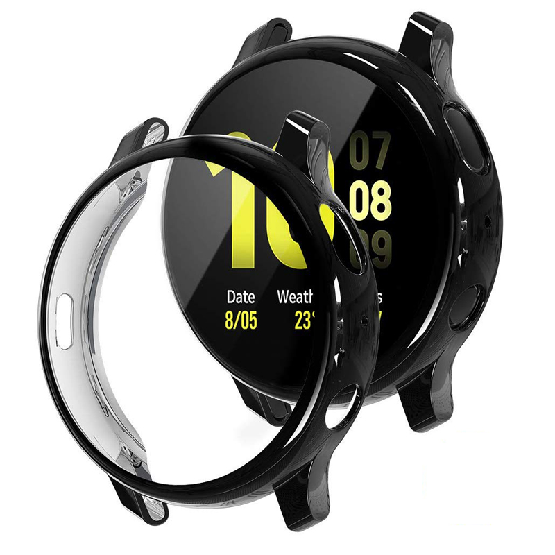 TUP soft watch case for Samsung galaxy watch active 2 44mm 40mm bumper Protector Full coverage Screen Protection case