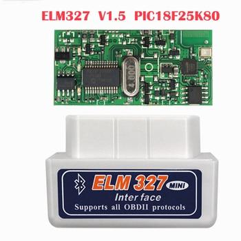 OBD2 Diagnostic ELM327 OBD2 Bluetooth V1.5 V2.1 Car Diagnostic Tool ELM 327 V1.5 OBD 2 Scanner Work Android Windows 12V Diesel obd2 obd ii wireless v2 1 super mini elm327 bluetooth interface car scanner diagnostic tool elm 327 for android torque windows