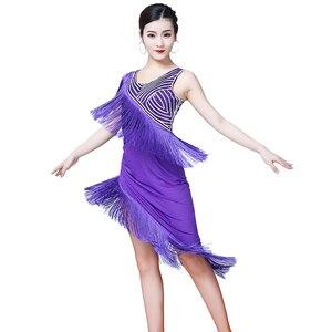 Image 3 - ชุดเต้นรำละติน 2019 ใหม่ผู้หญิงเลื่อมพู่เครื่องแต่งกายผู้หญิงเซ็กซี่บอลรูม/TANGO/Cha Cha การแข่งขันชุด