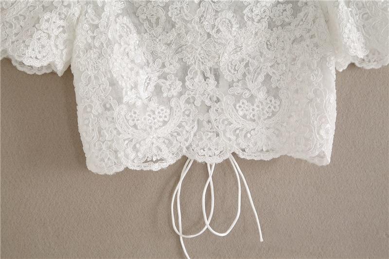 2020 Ivory Wedding Bridal Jacket 1/4 Sleeve Lace Applique Elegant Wraps New Wedding Top