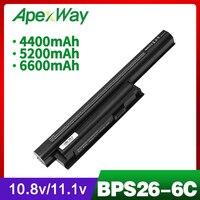 ApexWay 11.1V VGP BPL26 VGP BPS26 VGP BPS26A Laptop Battery For Sony Vaio SVE14A SVE15 SVE17 VPC CA VPC CB VPC EG VPC EH