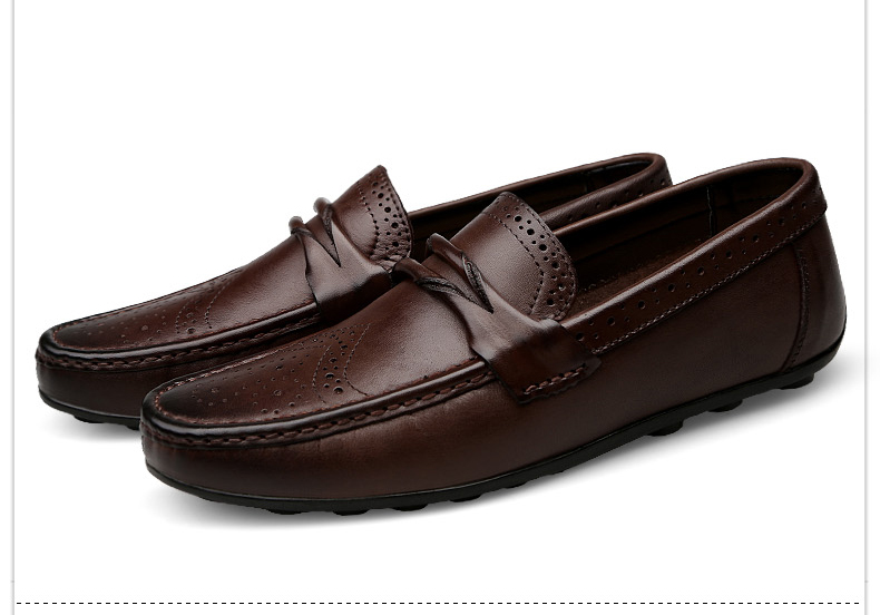H4210b806773740de8239fa0660731be6k Men Loafers Shoes Genuine Leather Casual Sneakers Male Fashion Carved Boat Footwear Soft Dress Party Shoes Men Chaussure Homme