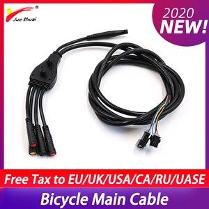 36 в 48 в кабель, высококачественный черный водонепроницаемый основной кабель для электронного велосипеда, четыре вида разъемов для электрич...