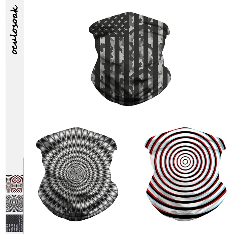 Vortex Digital Printing Carnival Festival Mask Sports Riding Mask No Brim Hat Wristband Scarf