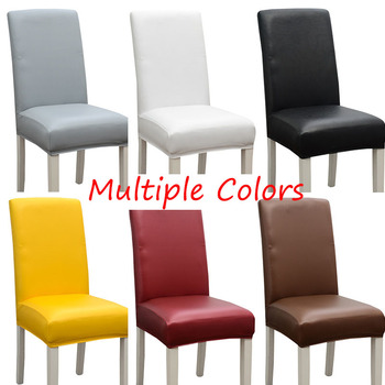 New Style Waterproof Chair Cover 100% Polyester Christmas Chair Covers Stretch Slipcover Solid Color Plain Dyed Chairs Protector 1