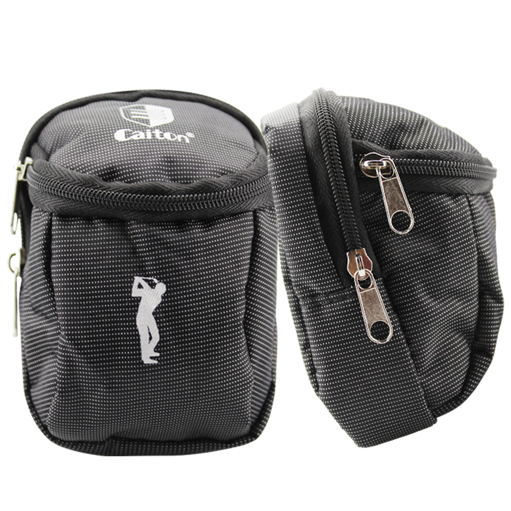 Portable Small Golf Ball Bag Golf Tees Holder Carrying Storage Case Pouch Can Hold 6 Golf Balls