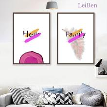 Скандинавский минималистичный холст, картина, Современное абстрактное розовое дерево, кольца, английская живопись и печать, домашний декор...