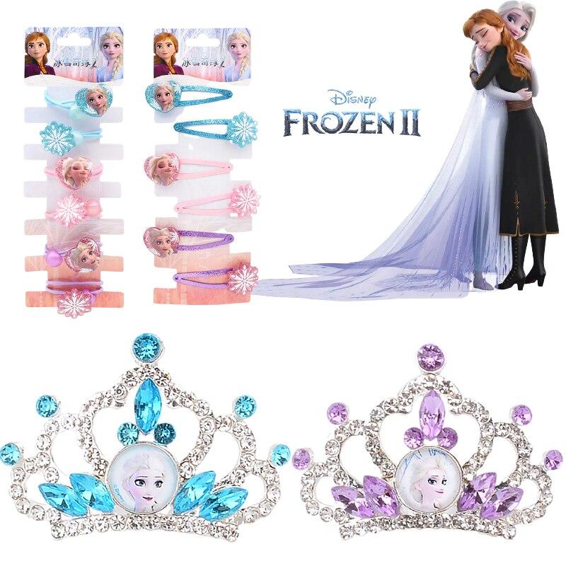 Disney frozen 2 anna sofia ariel meninas coroa frozen 2 headdress lado clip para crianças fingir jogar brinquedos de maquiagem presente aniversário