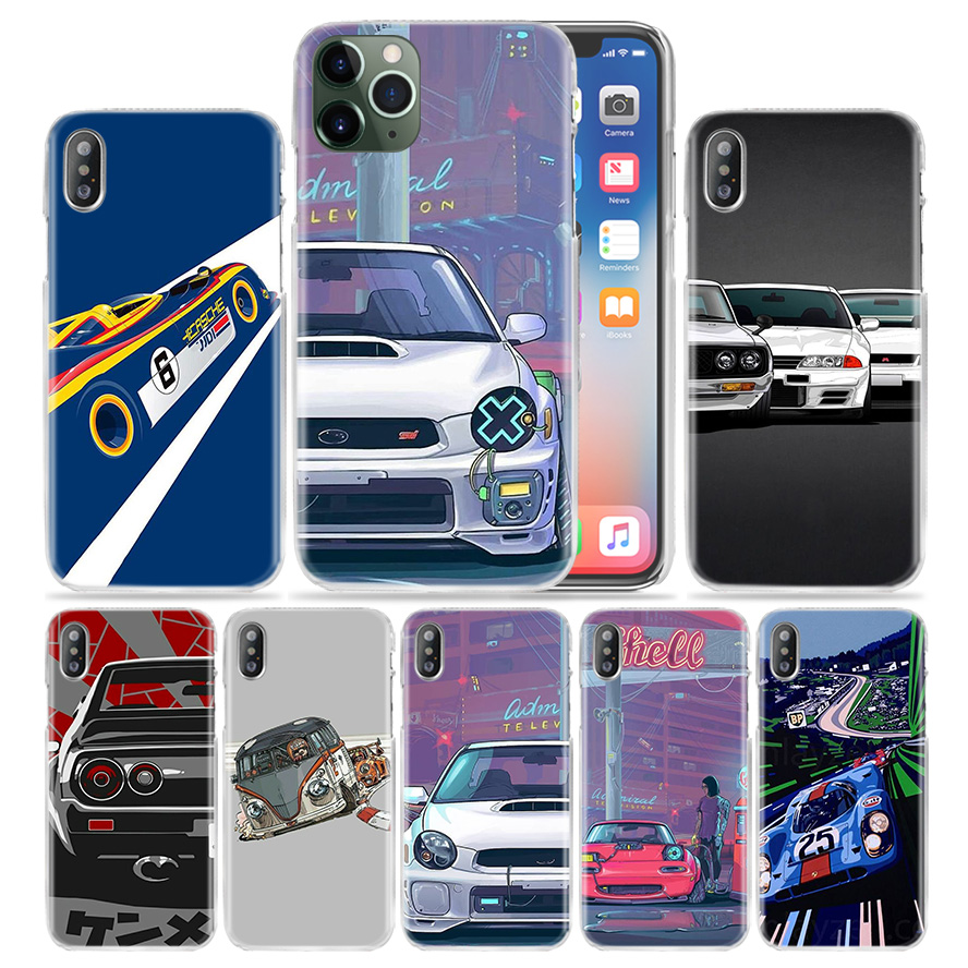 עבור apple מגניבים Vintage Cars Case עבור Apple iPhone 11 Pro XS מקס XR X 10 7 7S 8 6 6S פלוס + 5 SE 5S 4S 4 5C Hard PC טלפון Coque כיסוי Funda (1)
