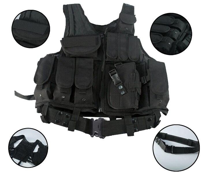 Gilet utilitaire et accessoire tactique vêtements et équipement de chasse et de tir pour la sécurité de la Police