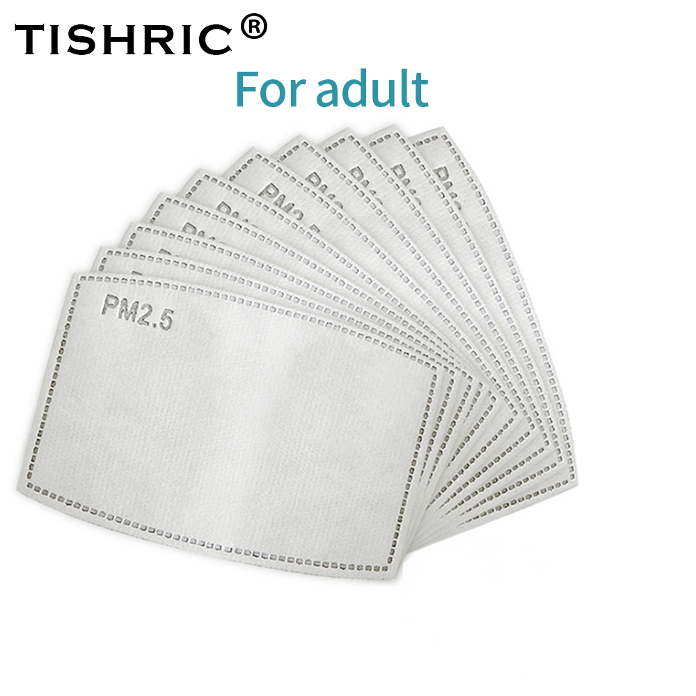 TISHRIC 5 Layers Activated Carbon Mask Filter Anti Droplet Respirator Face Mask Kids Adult Anti Dust/Haze Protection Disposable