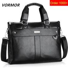 VORMOR 2019 Men Casual Briefcase Business Shoulder Bag Leather Messenger Bags Computer Laptop Handbag Bag Men
