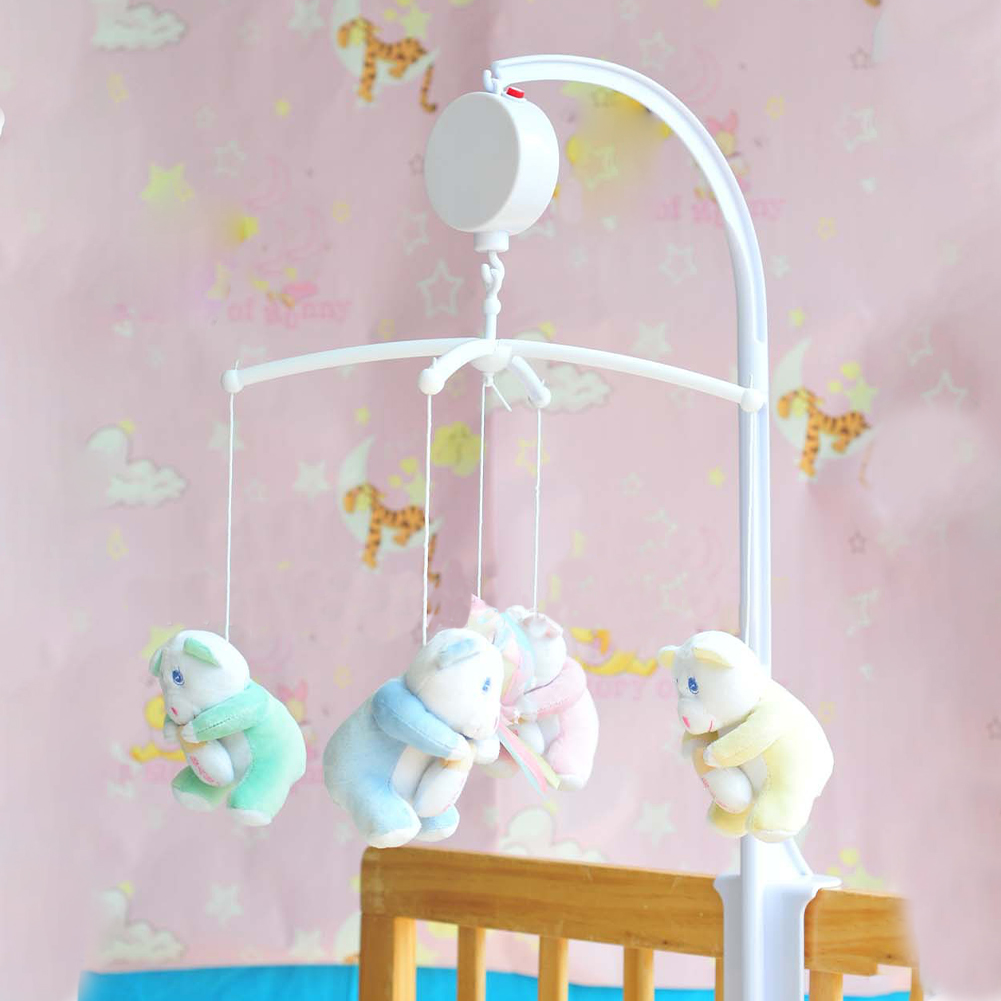 Baby Crib Mobile Bed Bell Toy Holder Arm Bracket Wind-up Music Box