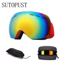 Ski Goggles Double Layers Anti Fogging UV Anti-fog Big Mask Glasses Snow Skiing Snowboard Eyewear Adults Winter