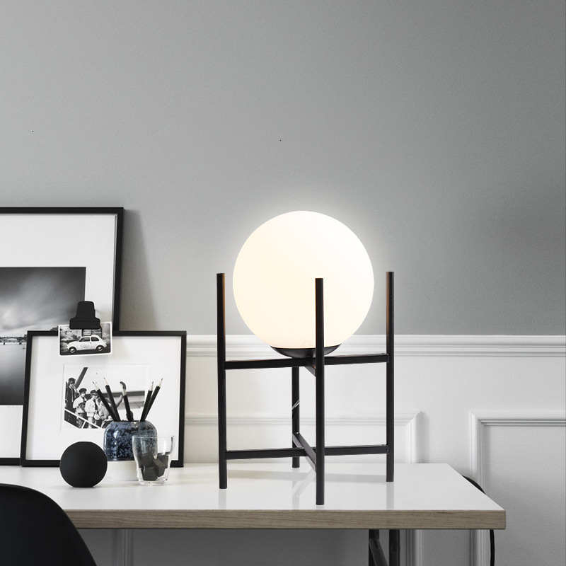 Nordic palla di vetro lampada da tavolo del salotto tavolo da tè scrivania camera da letto comodino lampada da tavolo decorativa palla - 4