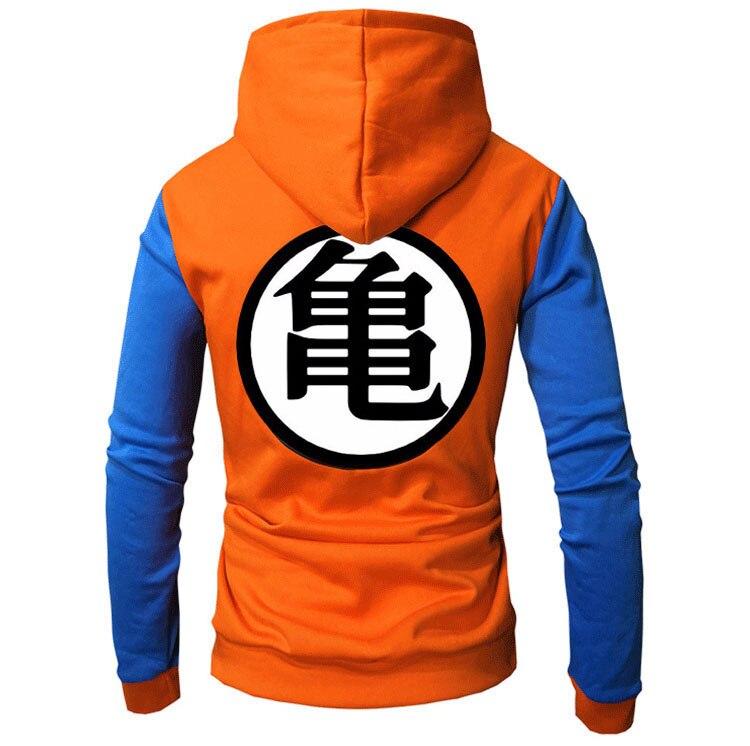 2018 New Anime Hoodies Dragon Ball Z Pocket Hooded Sweatshirts Goku Hoodies Pullovers Men Women Long Sleeve Outerwear New Hoodie