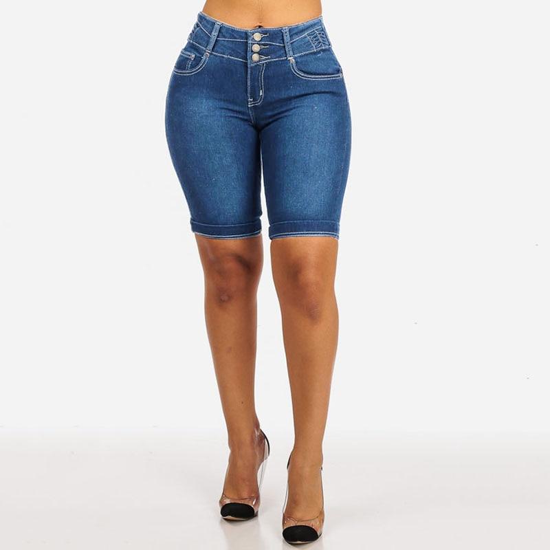 New fashion high waist mom skinny shorts jeans for women pants vintage black washed boyfriend short jeans jeggings pantalones