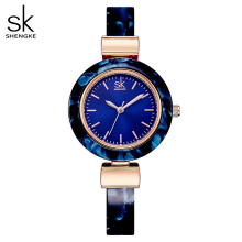 Shengke Bracelet Women Watches for Lady Fashion Dress Bangles Charming Chain Style Watch Women Quartz Women Dress Watch 2020